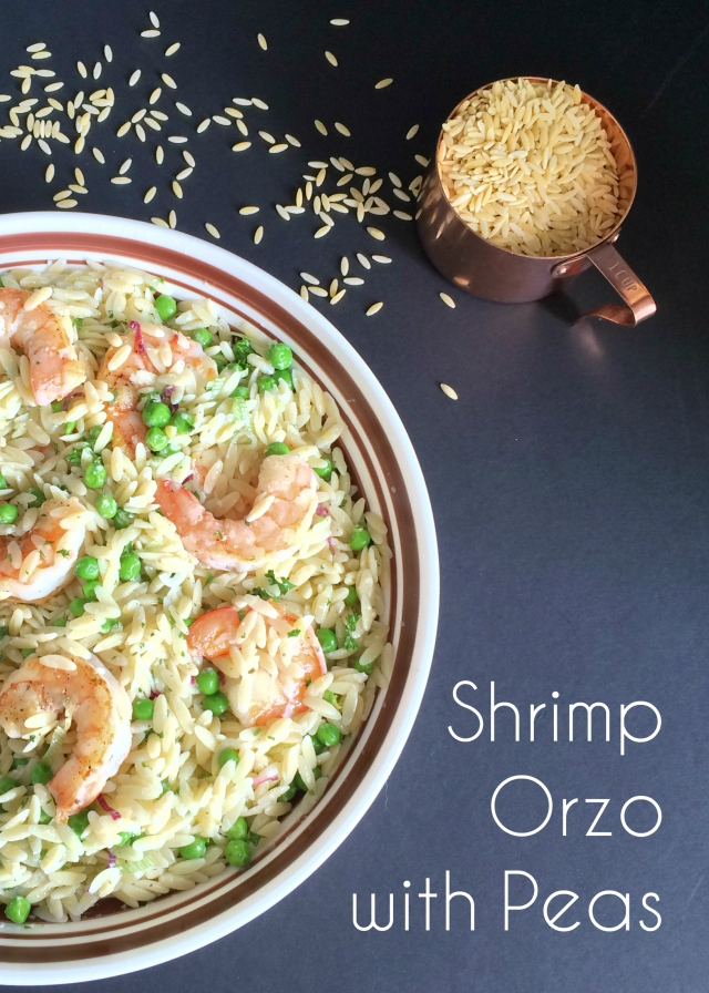 Shrimp Orzo with Peas