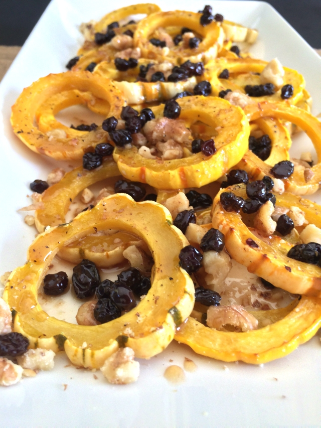 Delicata Squash with Currant Drizzle from The Ruby Kitchen