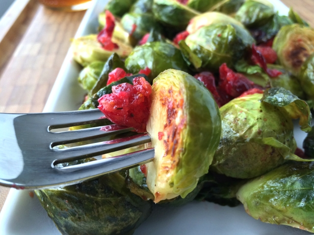 Roasted Cranberry Brussels Sprouts from The Ruby Kitchen