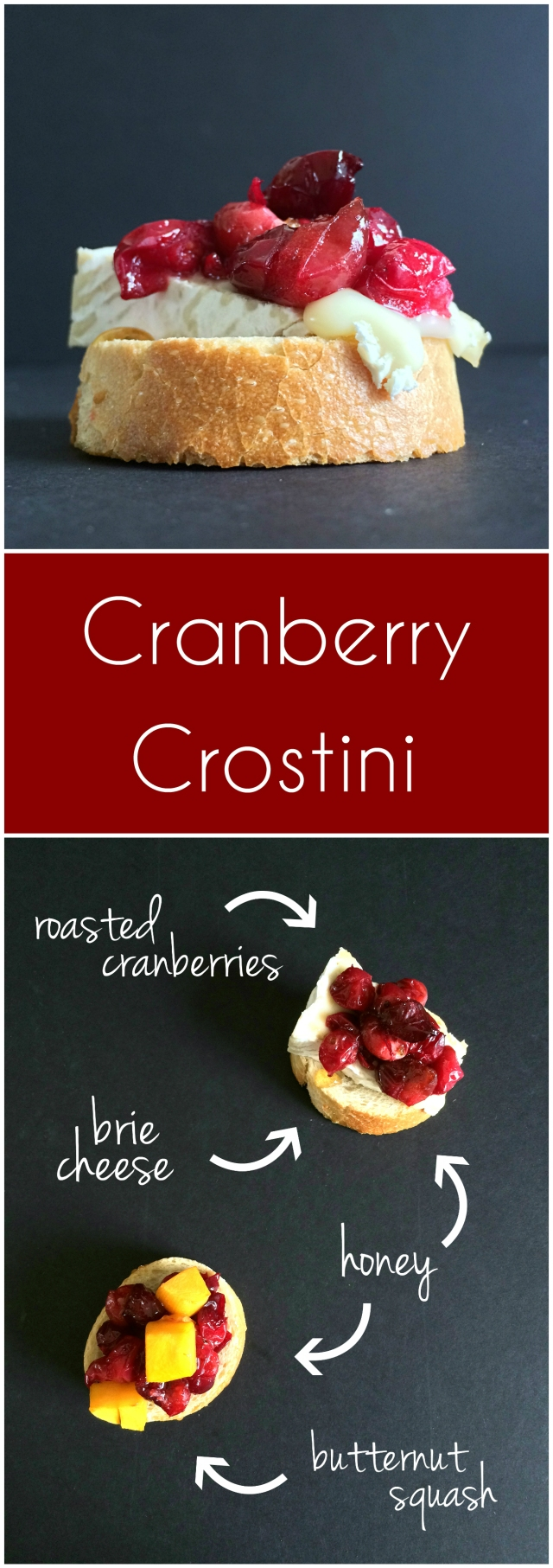 Easy Cranberry Crostini from The Ruby Kitchen