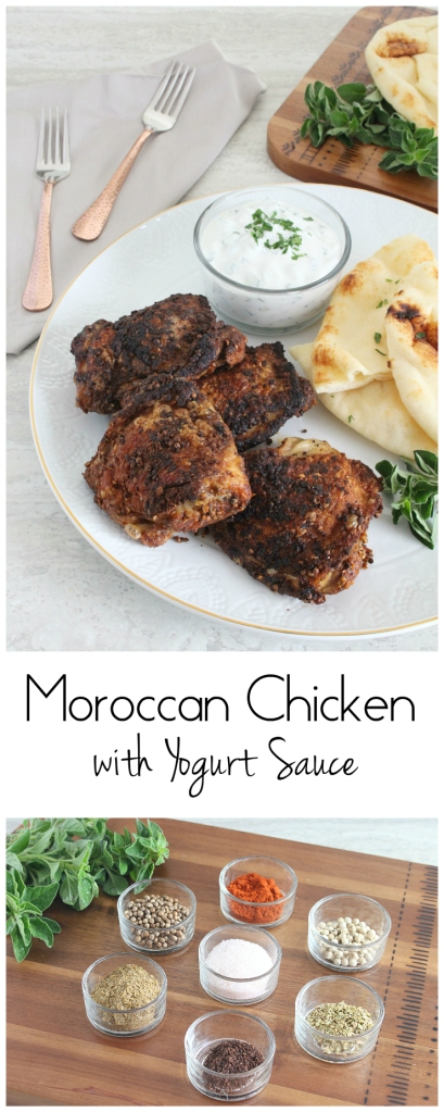 Moroccan Chicken with Yogurt Sauce from The Ruby Kitchen
