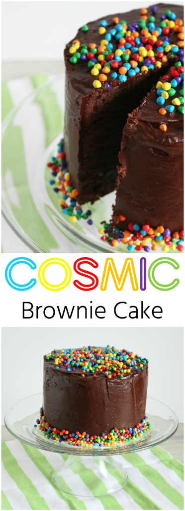 Cosmic Brownie Cake by The Ruby Kitchen