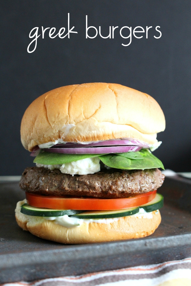 Greek Burgers from The Ruby Kitchen
