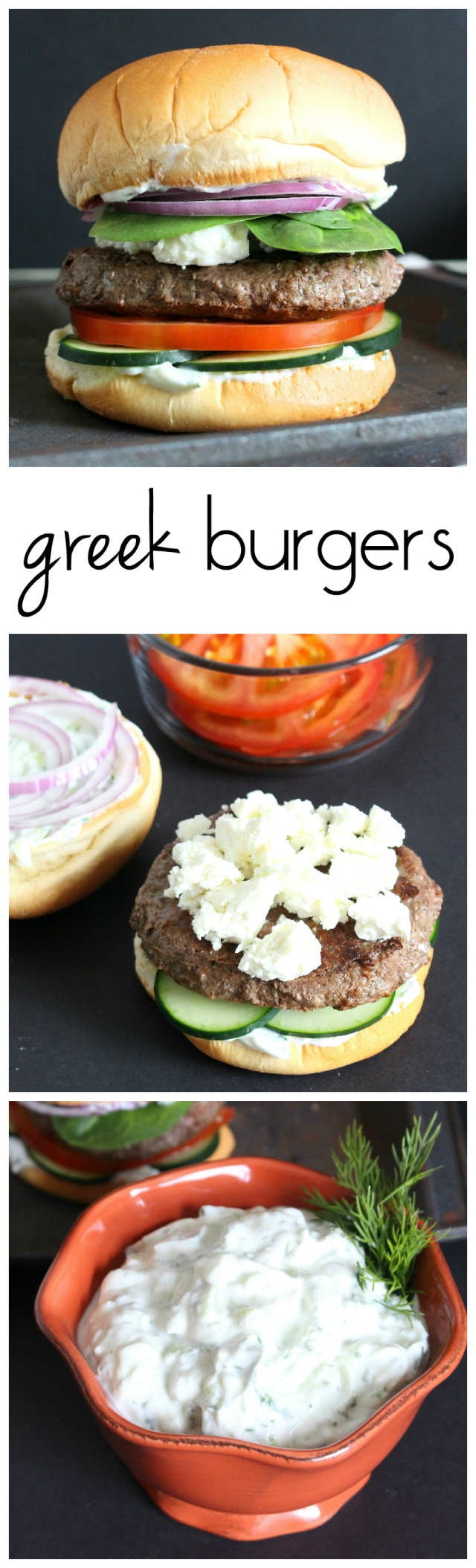 Greek Burgers with Cucumber Sauce from The Ruby Kitchen