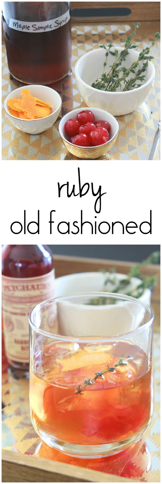 Ruby Old Fashioned from The Ruby Kitchen - a modern twist on a classic cocktail