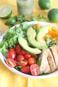 Fajita Salad with Cilantro-Lime Vinaigrette from The Ruby Kitchen