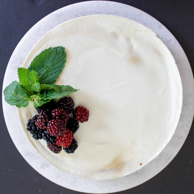 Blackberry Scotch Cheesecake