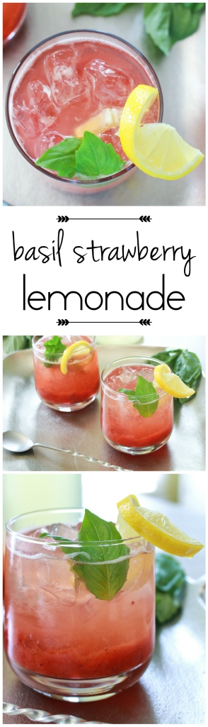 Basil Strawberry Lemonade from The Ruby Kitchen