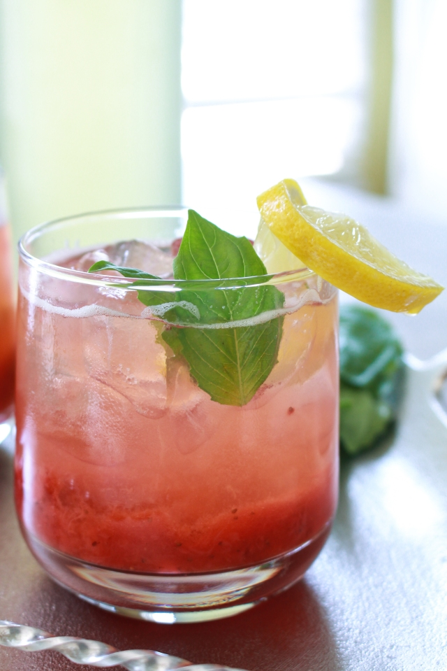 Strawberry Basil Lemonade from The Ruby Kitchen