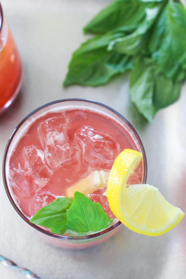 Strawberry Basil Lemonade from The Ruby Kitchen-3