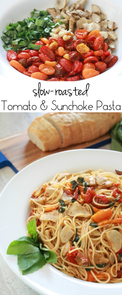 Slow-Roasted Tomato & Sunchoke Pasta from The Ruby Kitchen