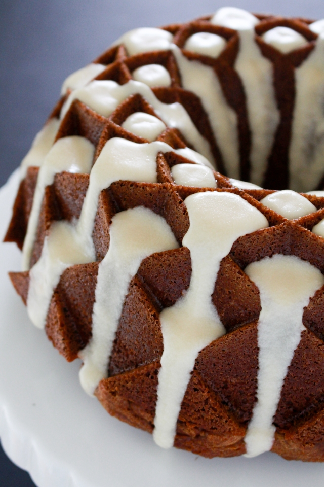 Gingerbread Cake with Maple Glaze from The Ruby Kitchen