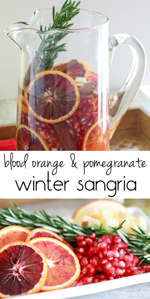 Blood Orange & Pomegranate Sangria