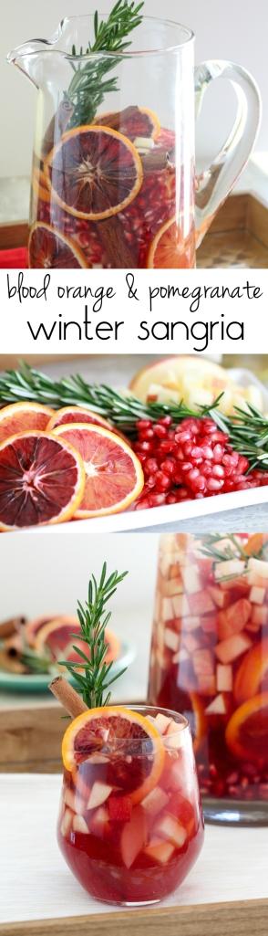 Blood Orange & Pomegranate Sangria