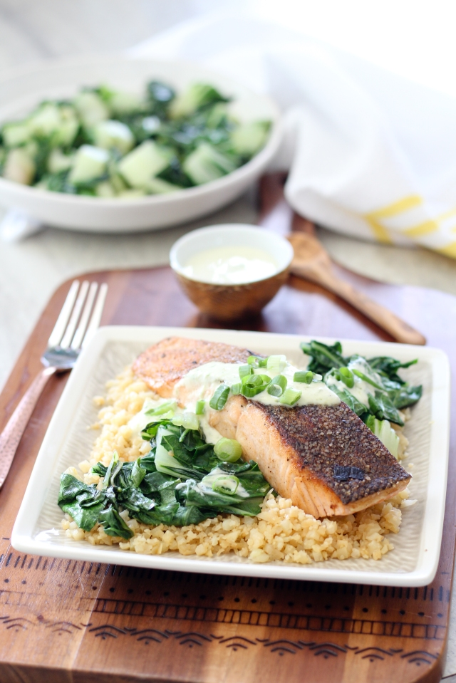 Wasabi Lime Salmon from The Ruby Kitchen
