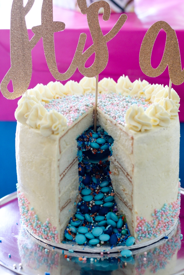 good cake recipes gender reveal how is this so cake the ruby kitchen 4577