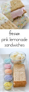 Frozen Pink Lemonade Sandwiches from The Ruby Kitchen